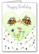 Buzzaboutbees greeting card shop bee themed birthday card m4hsunfo