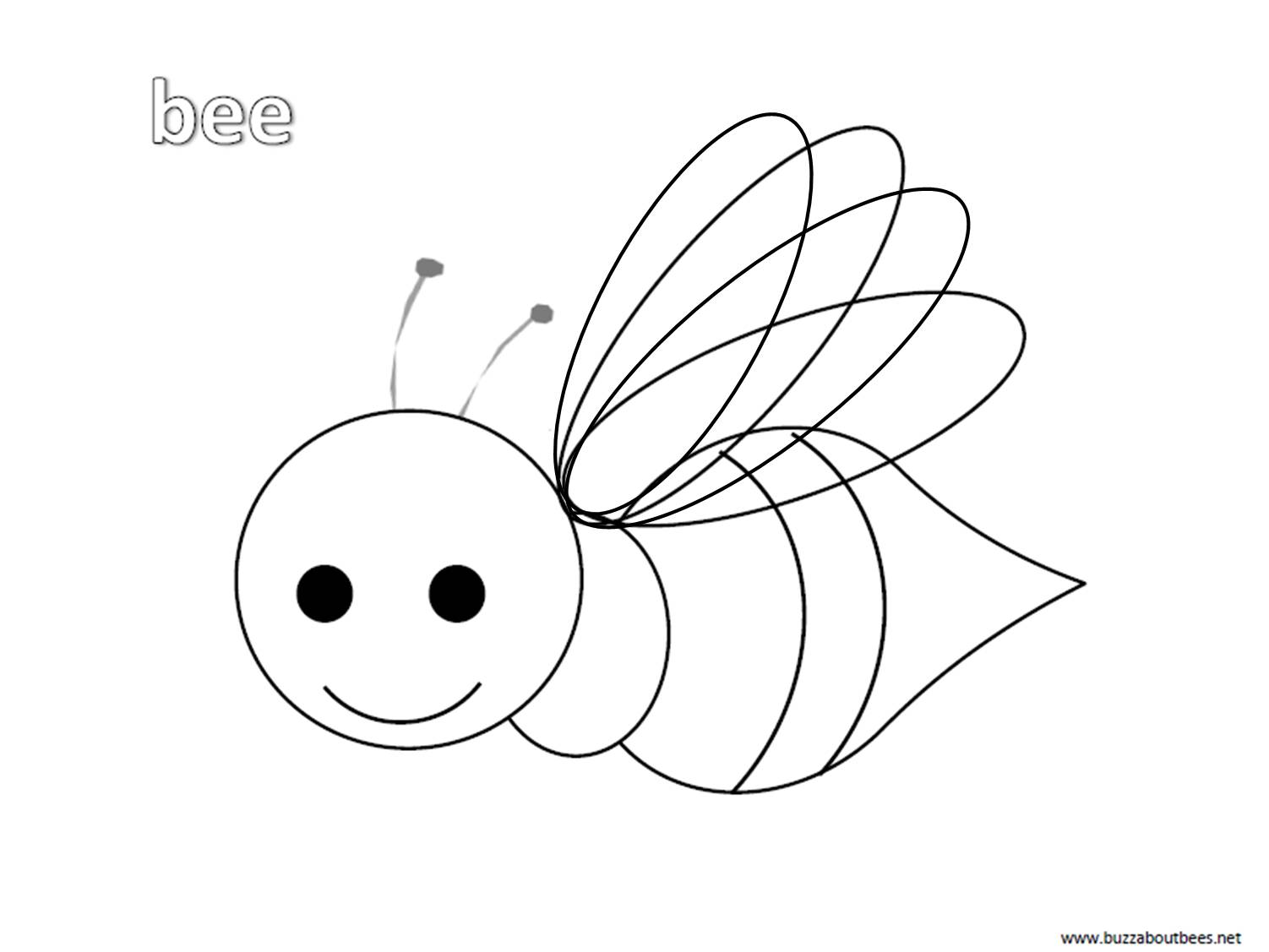 free bee coloring pages - photo#10