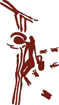Mesolithic rock painting of a honey hunter harvesting honey and wax from a bees nest in a tree.  (From the caves of Cueva de la Araña - image courtesy of Wikipedia)