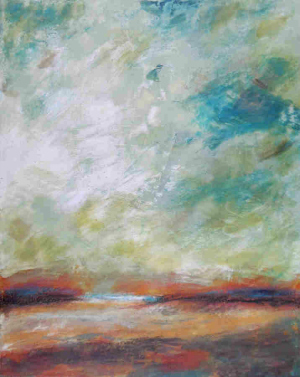 Victoria finds the haunting beauty of atmospheric paintings easy to achieve in beeswax.