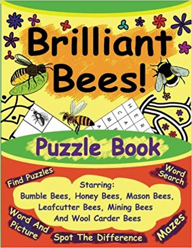 Brilliant Bees Puzzle Book - Front cover.