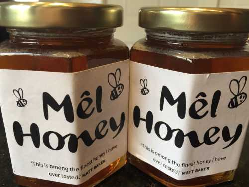 The honey produced by the bees at Ysgol San Sior is very fine.