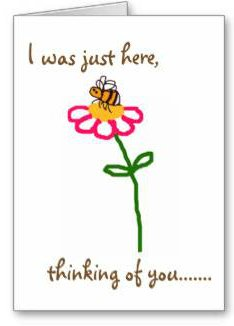 Bee-themed 'thinking of you' greeting card