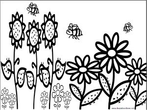 coloring pages simple smiley bee