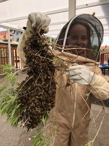 The children are very much involved in beekeeping too.