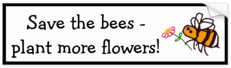 Save the bees plant flowers bumper sticker